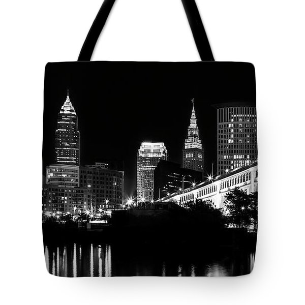 Cleveland Skyline Tote Bag