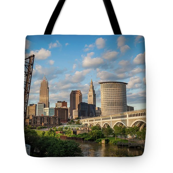 Cleveland Summer Skyline  Tote Bag