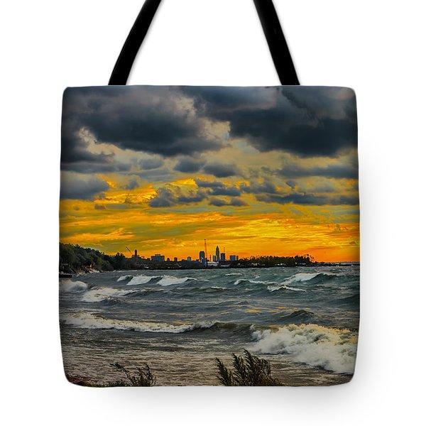 Cleveland Waves Tote Bag