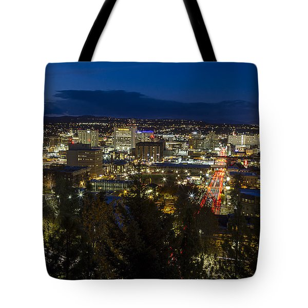 Cliff Drive Rush Hour - Spokane  Tote Bag