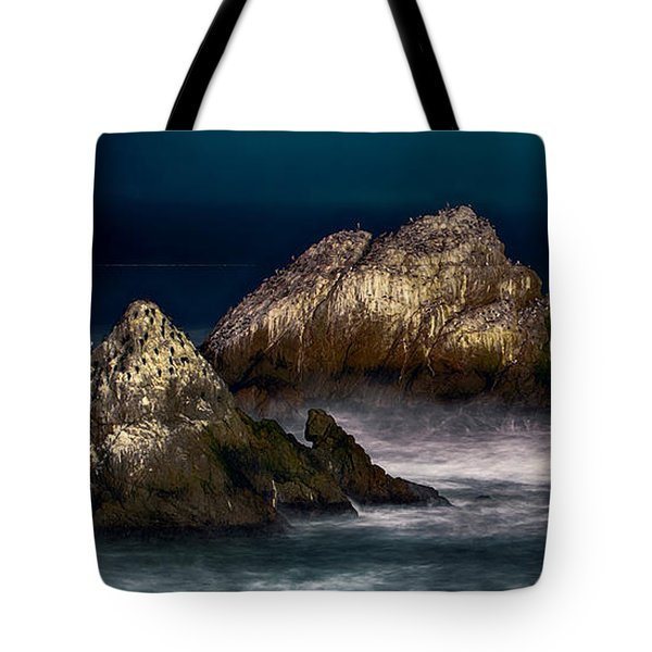 Cliff House San Francisco Seal Rock Tote Bag by Steve Siri