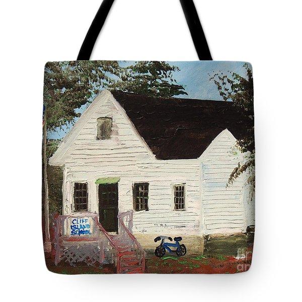 Cliff Island School Tote Bag