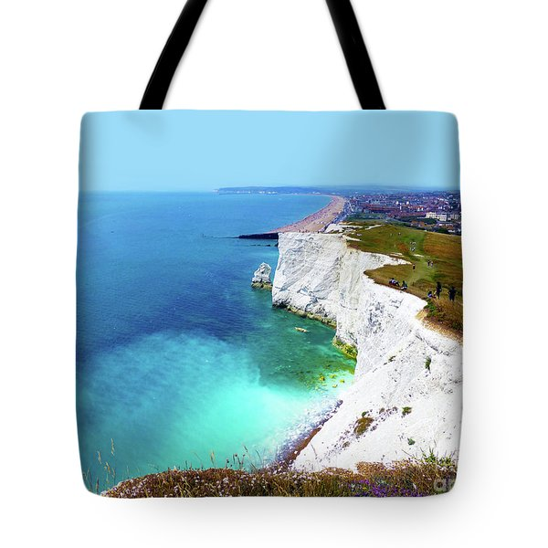 Tote Bag featuring the photograph Cliff Landscape by Francesca Mackenney