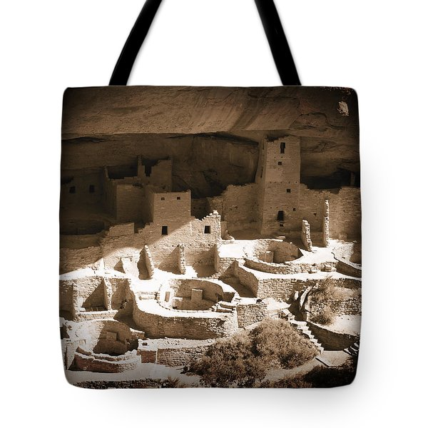Tote Bag featuring the photograph Cliff Palace Mesa Verde by Kurt Van Wagner
