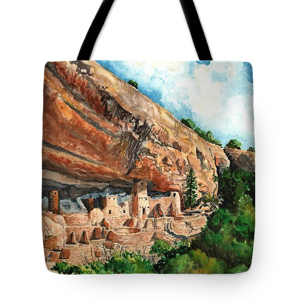 Cliff Palace Mesa Verde Tote Bag