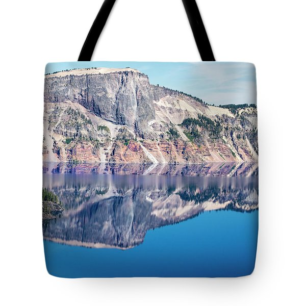 Tote Bag featuring the photograph Cliff Rim Of Crater Lake by Frank Wilson
