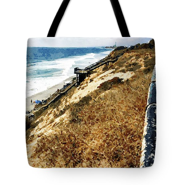 Cliff View - Carlsbad Ponto Beach Tote Bag