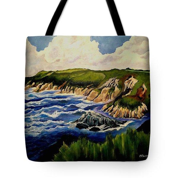 Cliffs And Sea Tote Bag