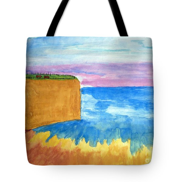 Cliffs And Sea Tote Bag
