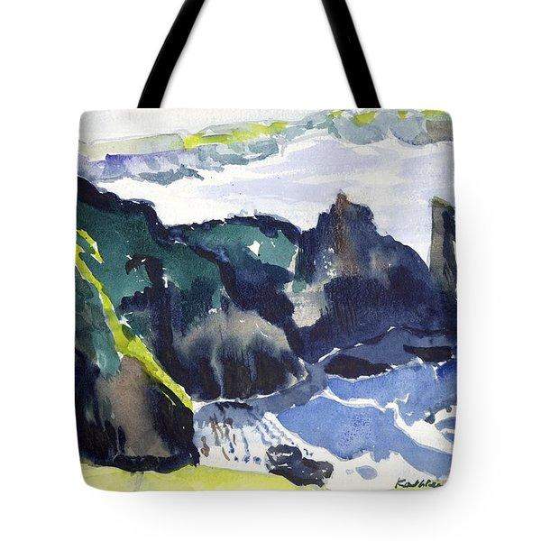 Cliffs In The Sea Tote Bag