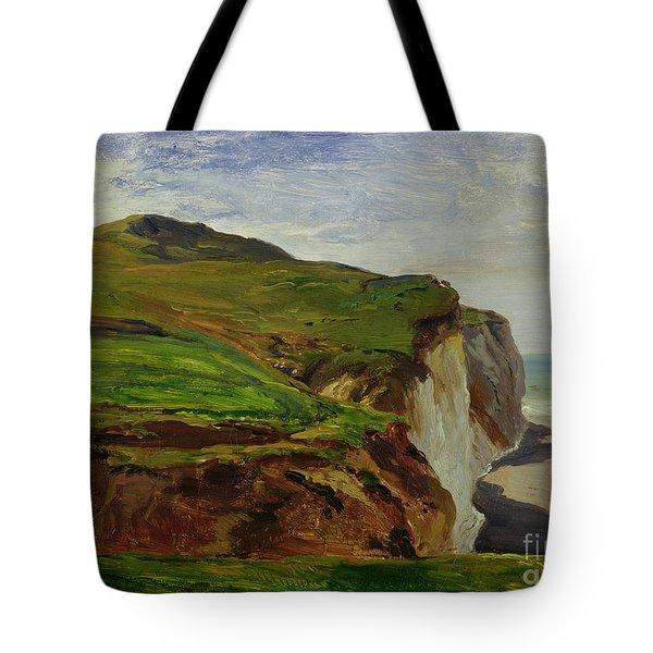 Cliffs Tote Bag by Louis Eugene Gabriel Isabey