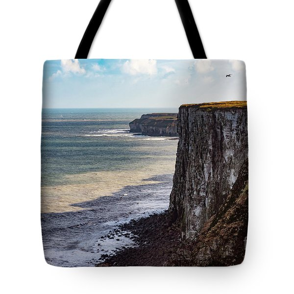 Tote Bag featuring the photograph Cliffs Of Bempton by Anthony Baatz
