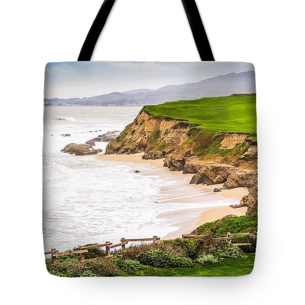The Cliffs At Half Moon Bay Tote Bag