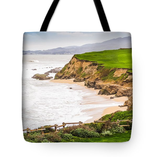 The Cliffs At Half Moon Bay Tote Bag