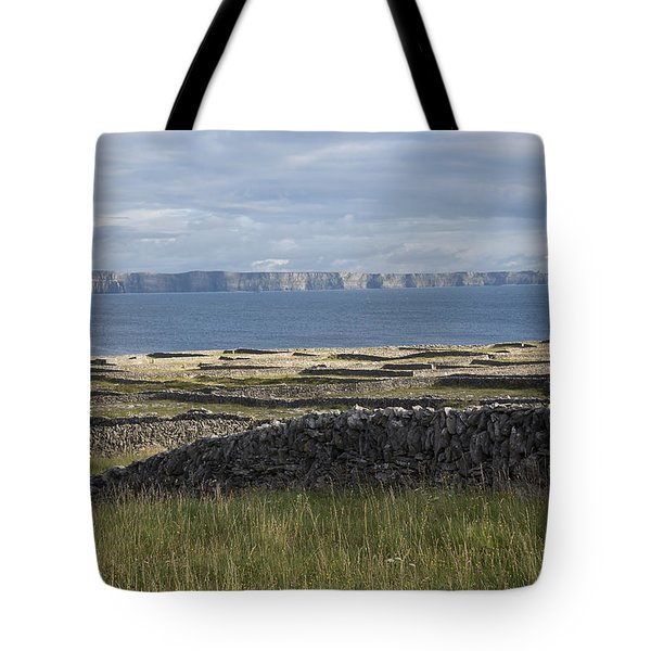 Cliffs Of Moher From Inisheer Tote Bag