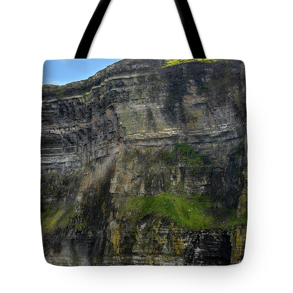 Tote Bag featuring the photograph Cliffs Of Moher From The Sea Close Up by RicardMN Photography