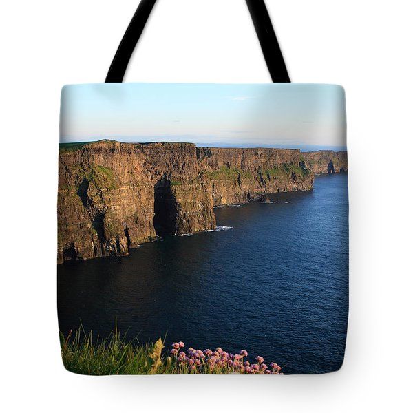 Cliffs Of Moher In Evening Light Tote Bag by Aidan Moran