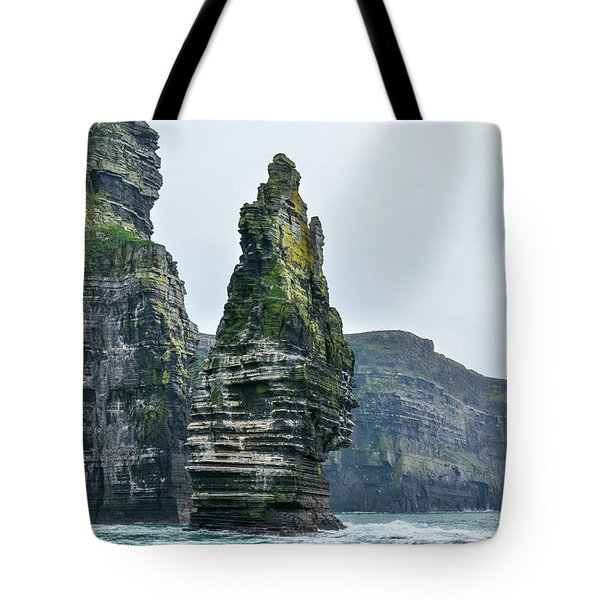 Cliffs Of Moher Sea Stack Tote Bag