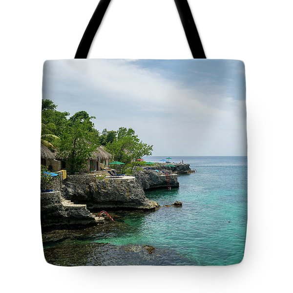The Cliffs Of Negril Tote Bag