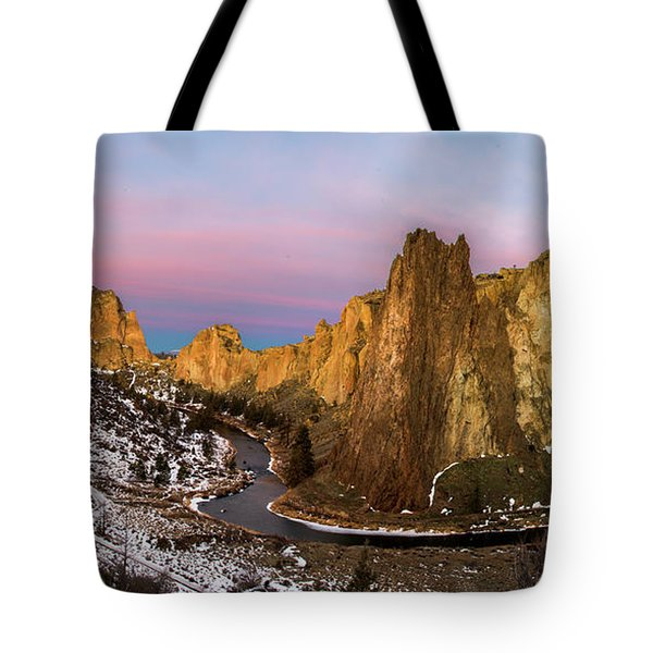 Cliffs Of Smith Rock State Park Tote Bag