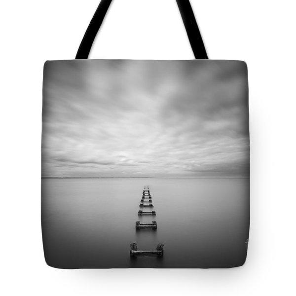 Cliffwood Sea Wall Bw Tote Bag