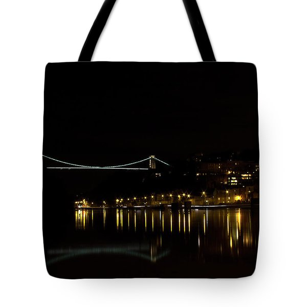 Clifton Suspension Bridge At Night Tote Bag by Brian Roscorla