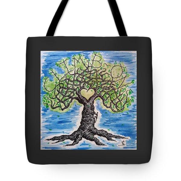 Climb-on Love Tree Tote Bag