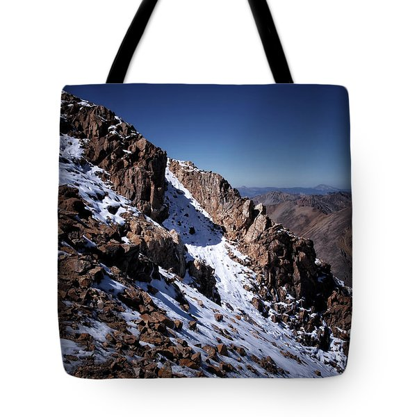 Tote Bag featuring the photograph Climb That Mountain by Jim Hill