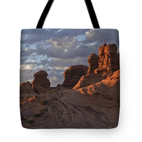 Climbers At Sunset In Garden Of Eden Tote Bag