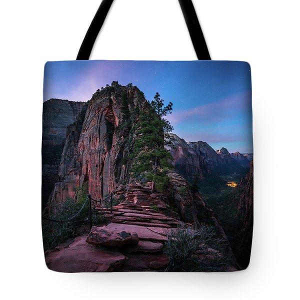 Climbing Angels Landing Tote Bag