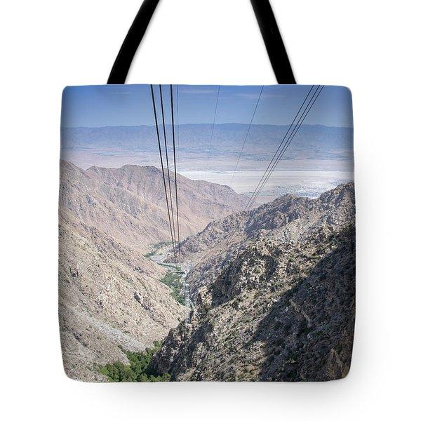 Climbing Mount San Jacinto Tote Bag