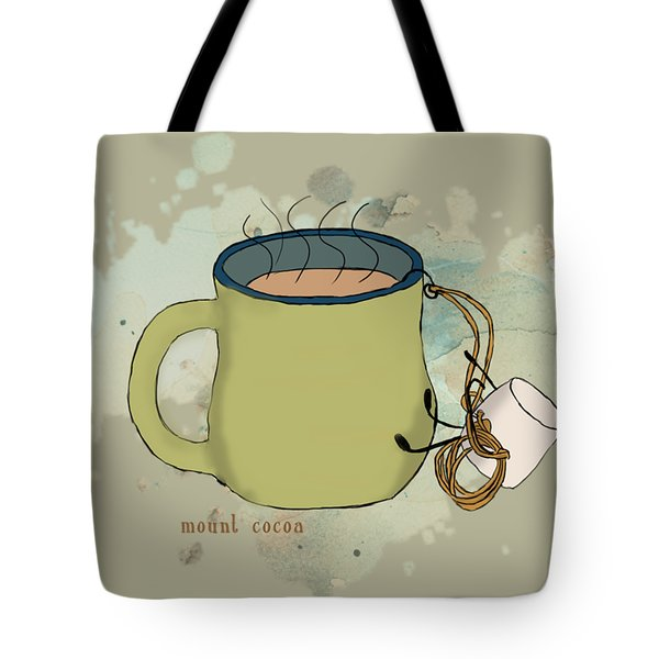 Climbing Mt Cocoa Illustrated Tote Bag