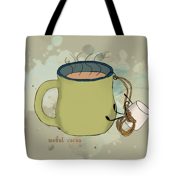 Climbing Mt Cocoa Illustrated Tote Bag by Heather Applegate