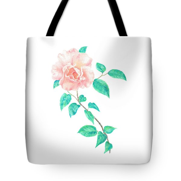 Tote Bag featuring the painting Climbing Rose by Elizabeth Lock