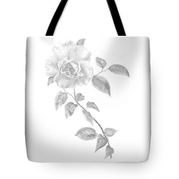 Tote Bag featuring the painting Climbing Rose II by Elizabeth Lock