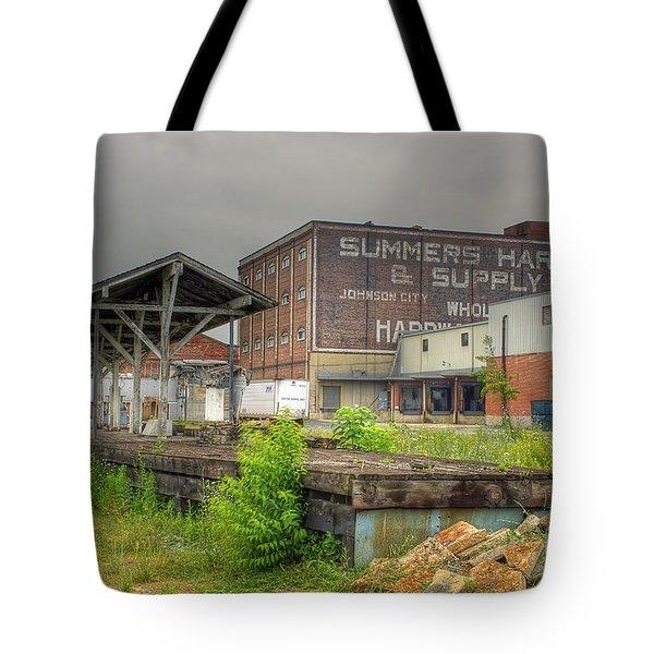 Clinchfield Train Station Platform Tote Bag