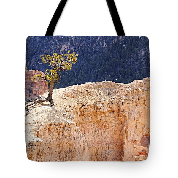 Clinging To The Top Of The Wall Tote Bag