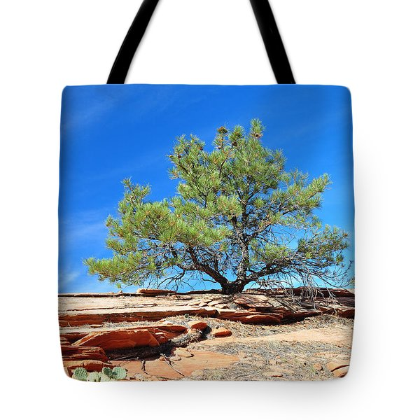 Clinging Tree In Zion National Park Tote Bag