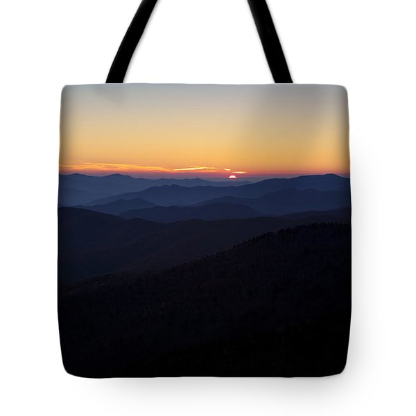 Clingmans Dome Sunset Tote Bag