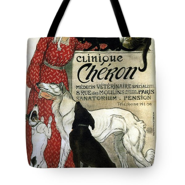 Clinique Cheron - Vintage Clinic Advertising Poster Tote Bag