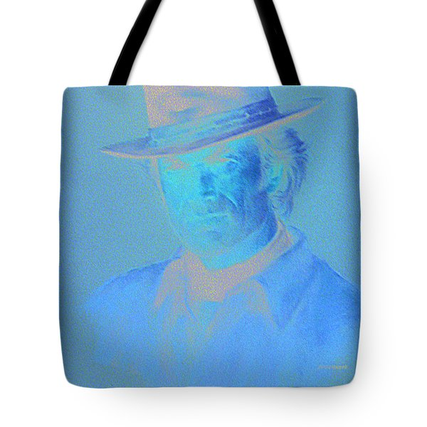 Clint Eastwood Tote Bag by Charles Vernon Moran