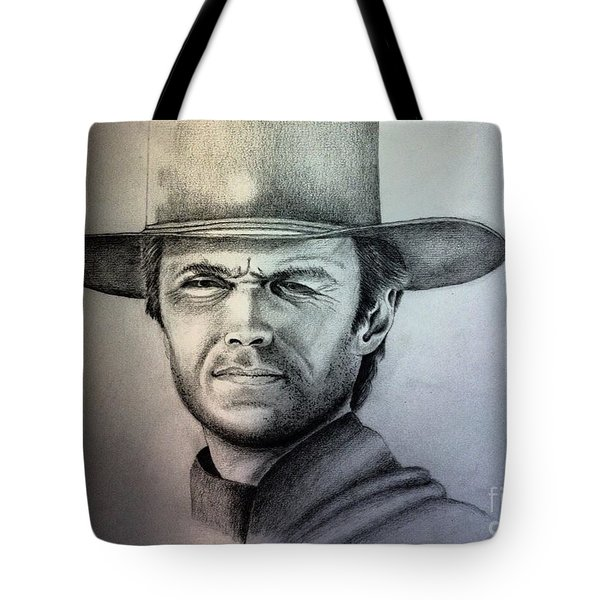 Clint Eastwood Portrait  Tote Bag