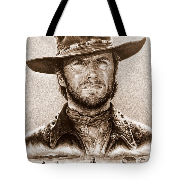 Clint Eastwood The Stranger Tote Bag