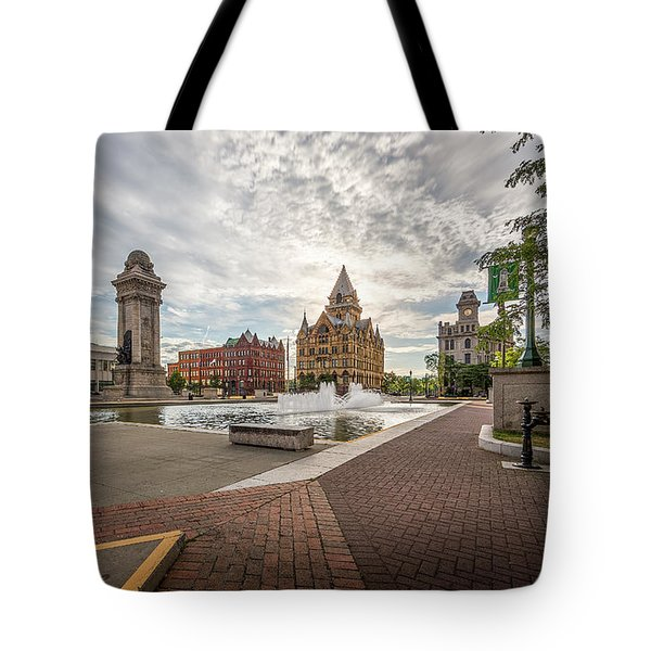 Tote Bag featuring the photograph Clinton Square by Everet Regal
