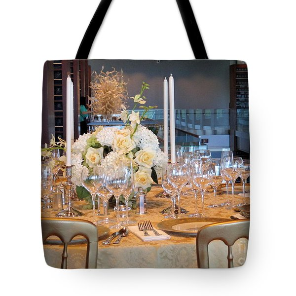 Clinton State Dinner 1 Tote Bag by Randall Weidner