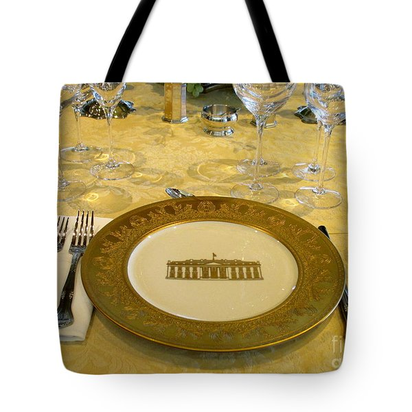 Clinton State Dinner 2 Tote Bag by Randall Weidner