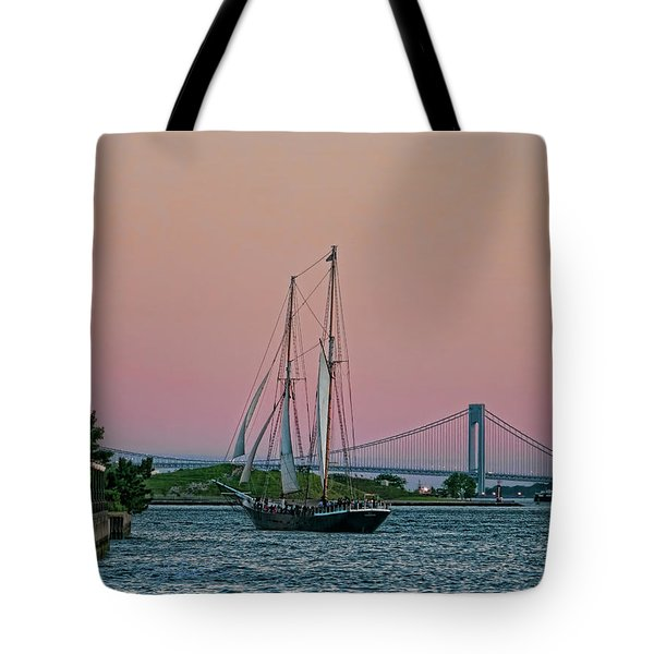Tote Bag featuring the photograph Clipper City by Steve Sahm