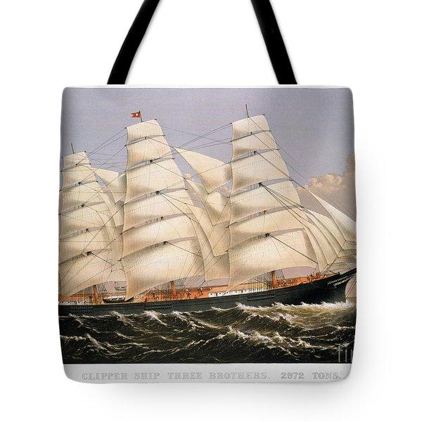 Clipper Ship, 1875 Tote Bag