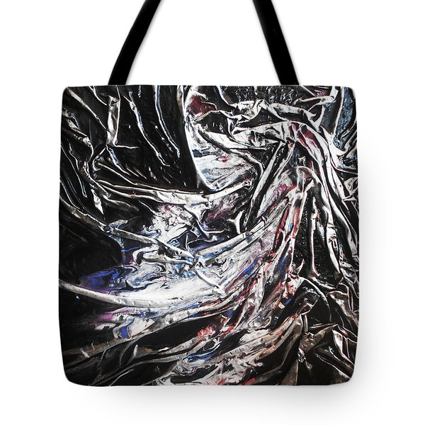 Tote Bag featuring the mixed media Cloaked In Silver by Angela Stout