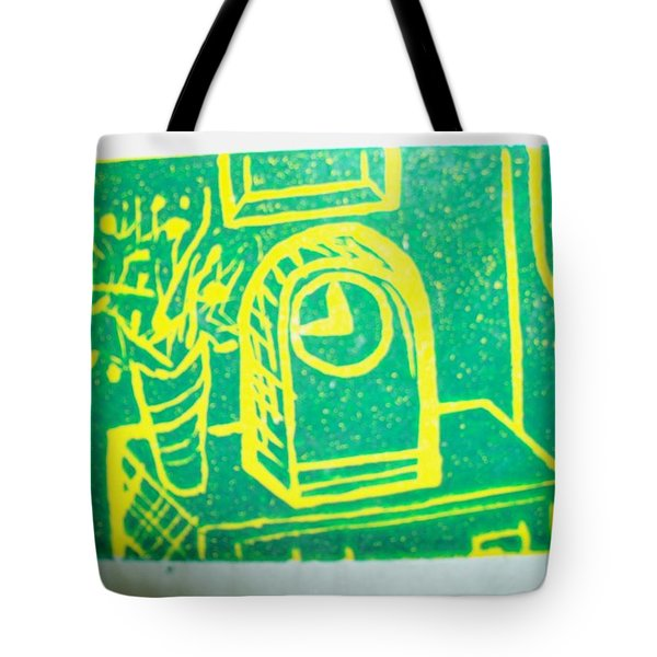 Tote Bag featuring the mixed media Clock by Erika Chamberlin